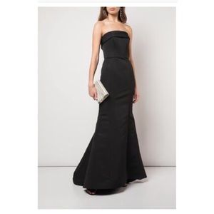 NWT!!! Amsale Jaylin black bridesmaid dress!